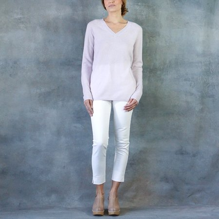 Duffy V-Neck Cashmere Sweater with Elbow Cutout