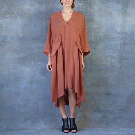 Rachel Comey Dune Dress V-neck in Clay