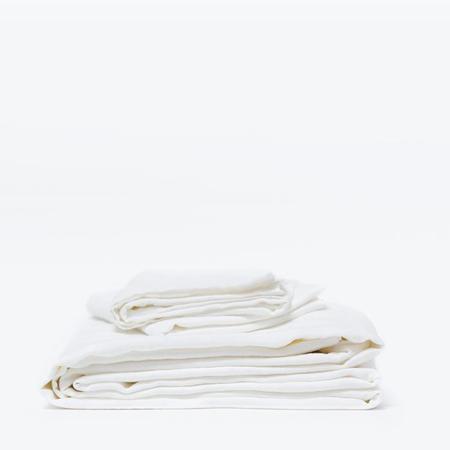 Morrow Classic Sheet Set Heirloom French Linen - White