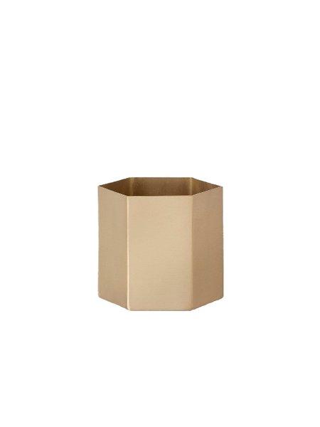 Ferm Living Brass Hexagon Pot Small