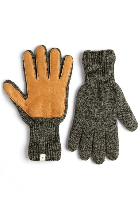 Bridge & Burn Lined Ragg Wool Glove Moss Saddle