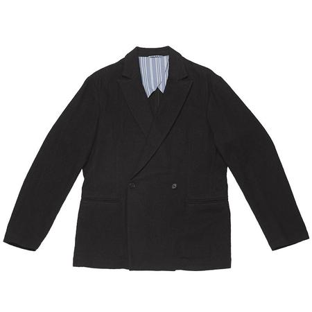 s.k. manor hill Darwin Blazer -  Black Cotton/Wool