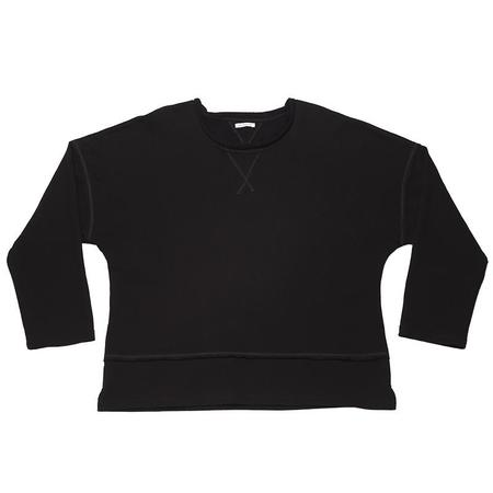 s.k. manor hill Roll-Neck Sweatshirt -  Black