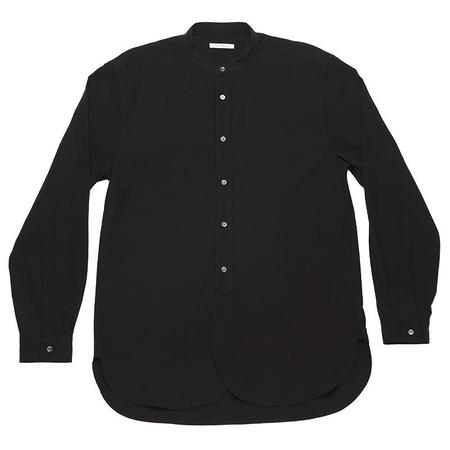s.k. manor hill Kalamazoo Shirt - Black Tencel/Cotton/Wool