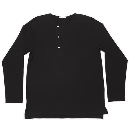 s.k. manor hill Long Sleeve Henley T-shirt - Black