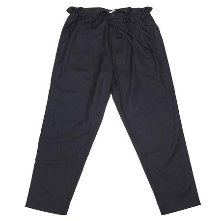 s.k. manor hill Pull Pant - Navy/White Pinstripe Wool