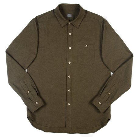Wilson & Willy's Hegman Shirt - Olive Twill