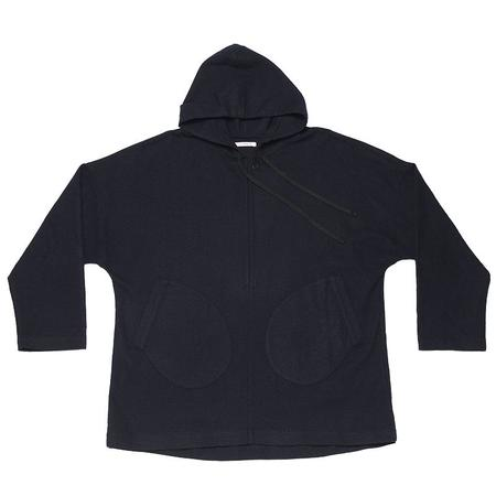 s.k. manor hill Trek Hoody -  Navy Cotton/Wool