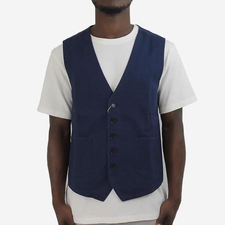 Vetra Workwear Vest Waistcoat - Navy Twill