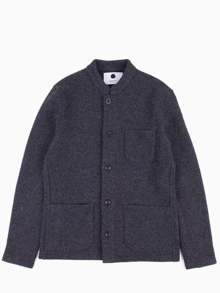 NN07 Oswald Knit Blazer Grey Melange