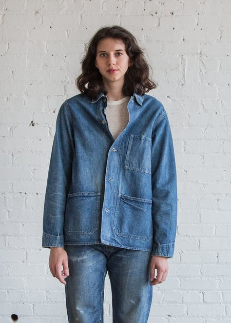 Chimala Damaged Denim Work Jacket - Vintage Wash