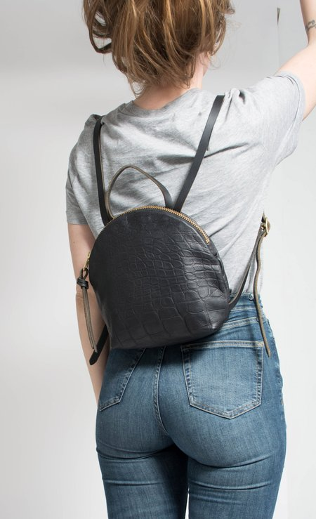 Eleven Thirty Shop Anni Mini Backpack: Croc Embossed
