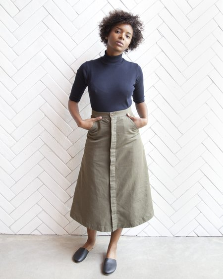 Esby Loretta Military Skirt - Olive
