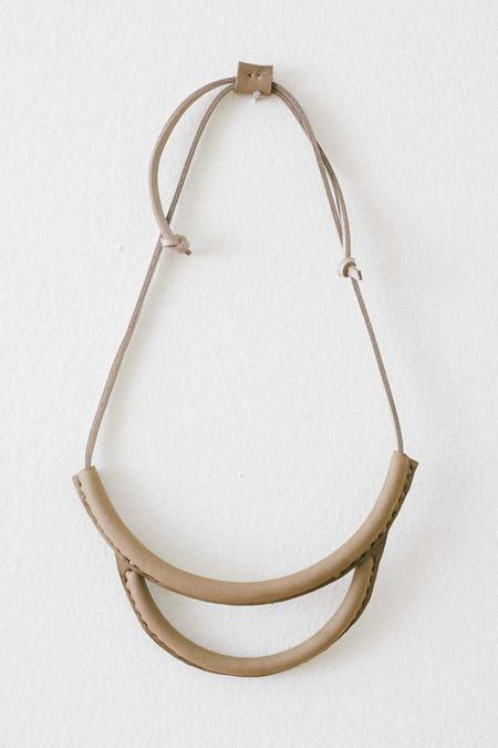 Crescioni Arc Necklace in Pewter