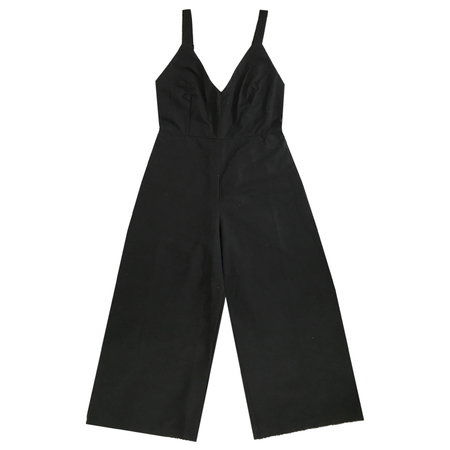 Ali Golden Grosgrain Jumpsuit - Black