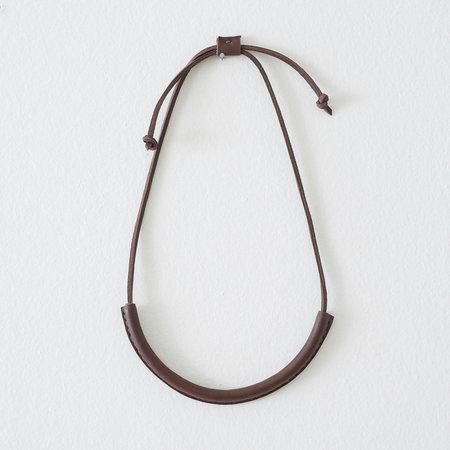 Crescioni Circuit Necklace - Chocolate