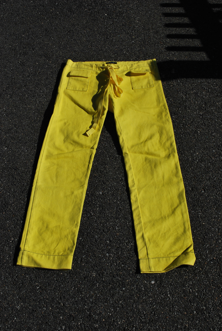07640 WORK PANT - ACID YELLOW