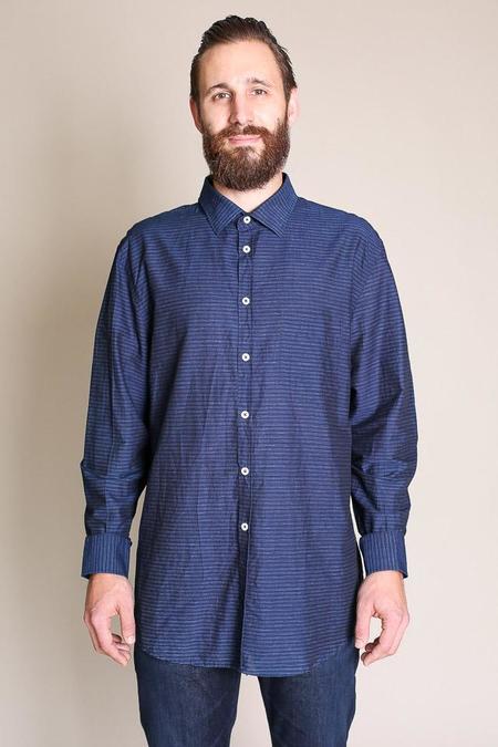 Billy Reid John T-Shirt in Indigo/Blue