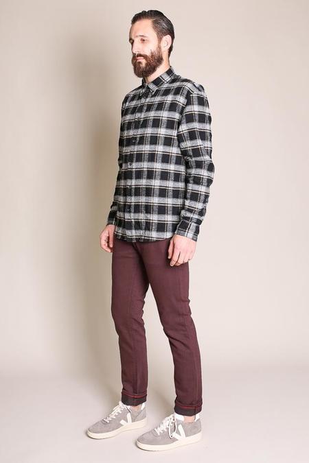 Billy Reid Murphy Shirt - Black/Gray
