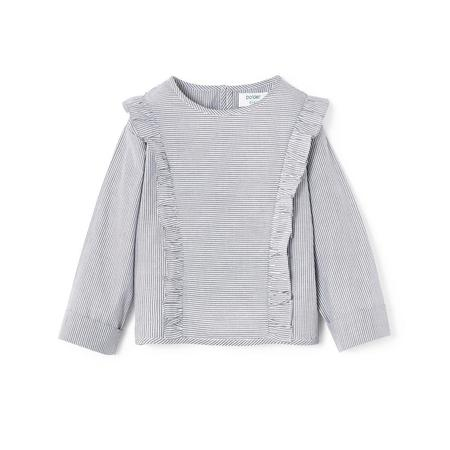 Polder Girl Cassis Top - Grey/White Stripe