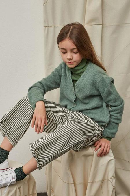 Kids Polder Girl Clem Pant - Chalk Stripe