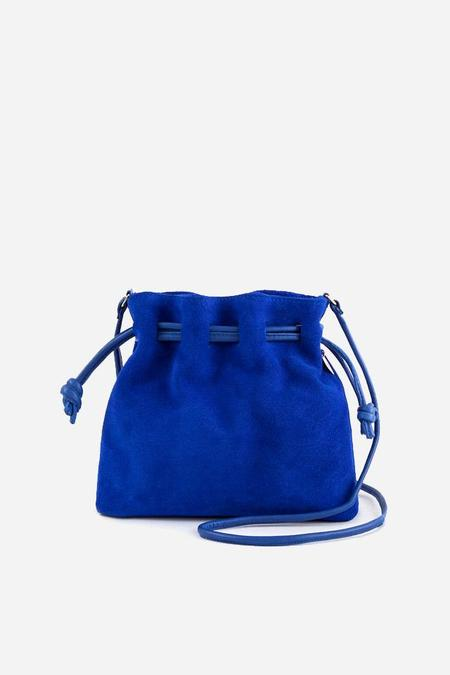 Clare V. Petit Henri in Royal Blue Suede