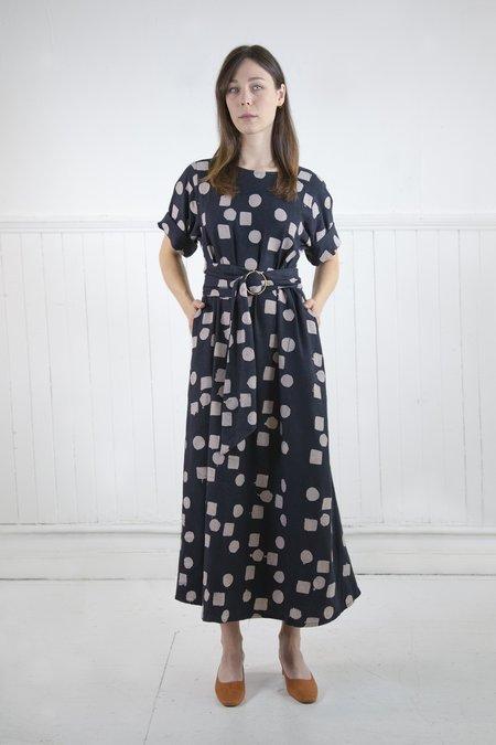 Osei-Duro Nonna Dress in Circles & Squares