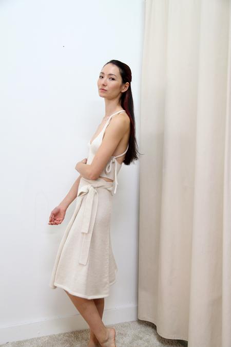 KORDAL Wrap Skirt - Cream
