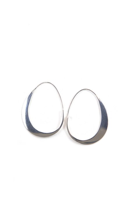 Emily Triplett Little Moon Earrings In Silver