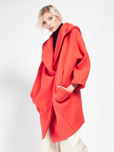 Reality Studio Xiong Coat with Hood - Raspberry