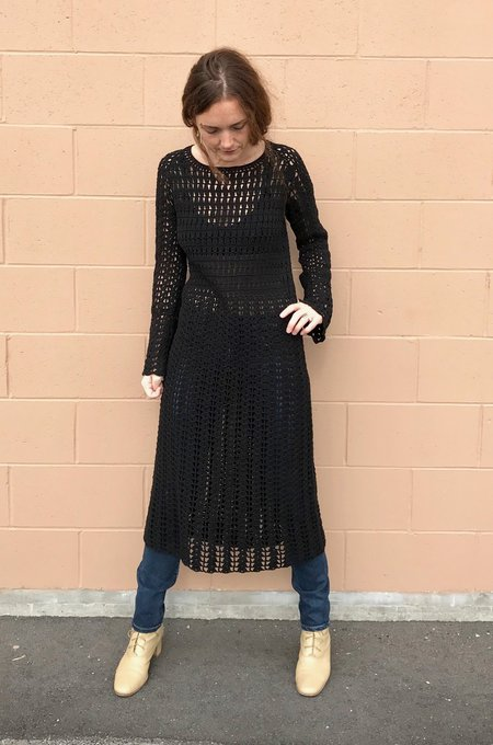 Pari Desai Savona Crochet Dress in Black