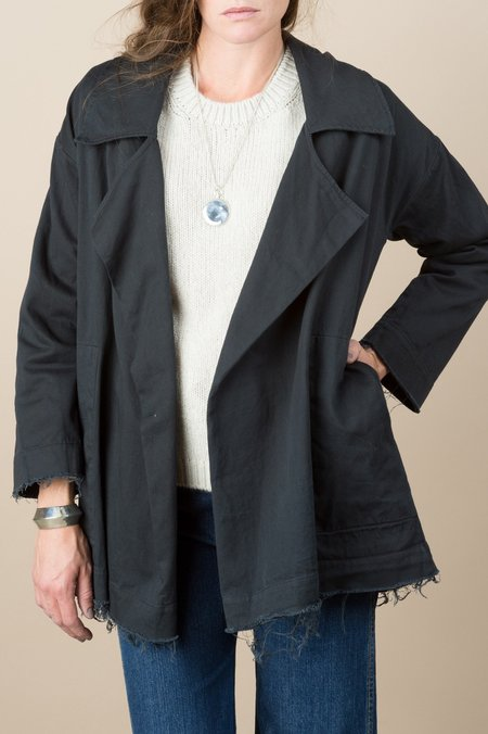 hackwith Raw Swing Jacket In Black