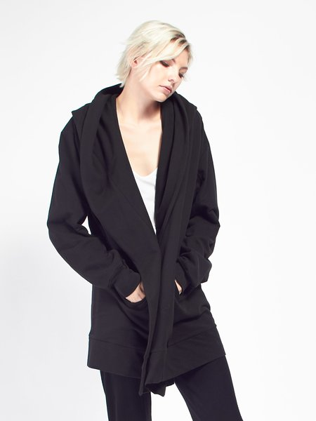Skin Hooded Cocoon Coat