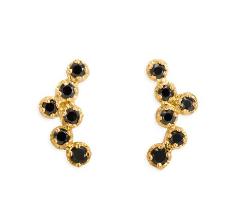 Satomi Kawakita 18K E6300 Black Diamond Earrings