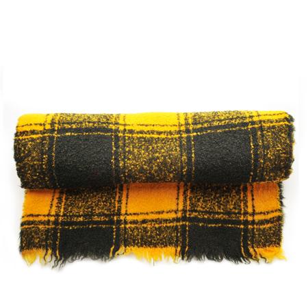Destin Yellow Eunice Plaid Scarf