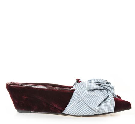 Trademark Velvet Burgundy Adrien Tie Slide