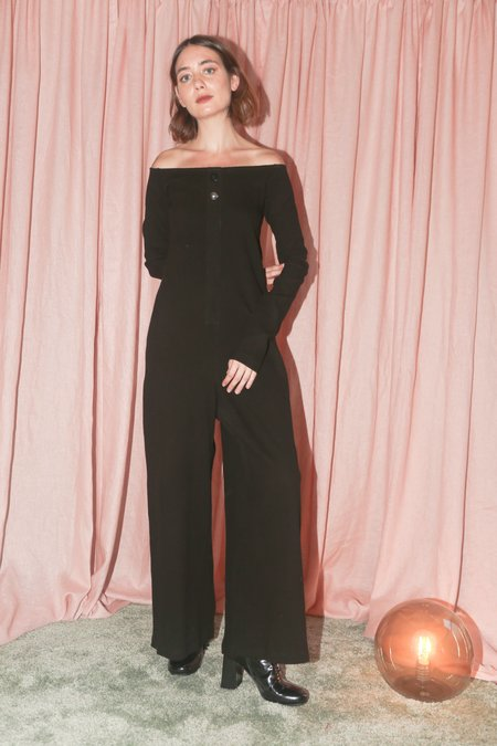 Delfina Balda Cata Knit Jumpsuit in Black