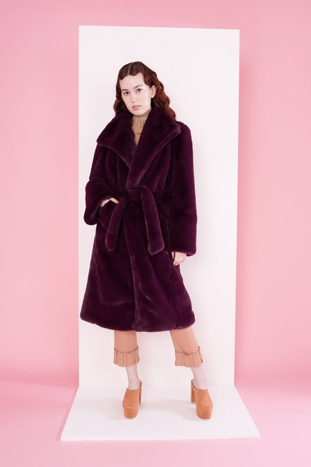 Samantha Pleet Souverign Coat - Ruby
