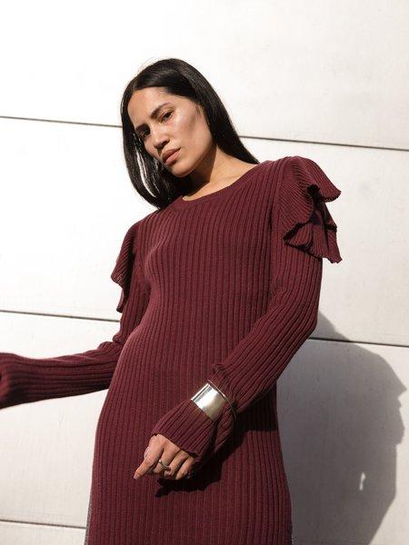 Maria Dora Ruffle Shoulder Tunic