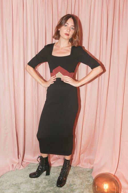 Mila Zovko Tomika Dress in Black/Rust/Gold