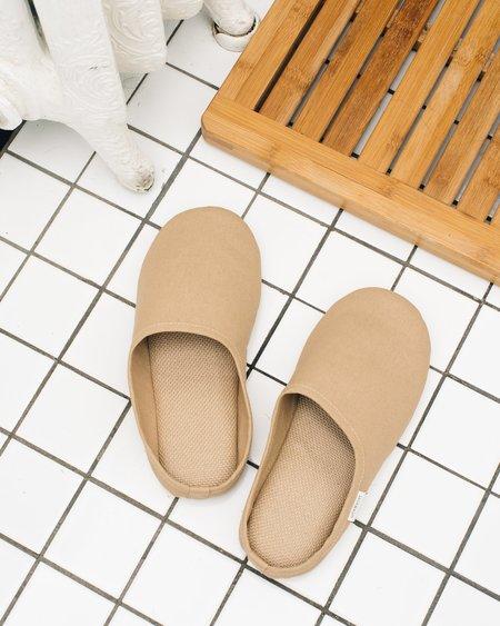 Sasawashi Room Shoes, Camel