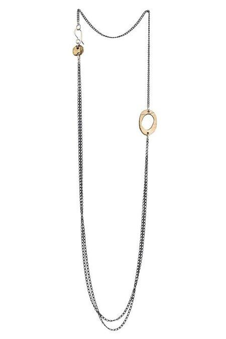 "Chikahisa Studio Skipping Stones 24"" Necklace"