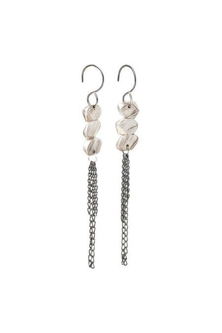 Chikahisa Studio Strata Fringe Earrings