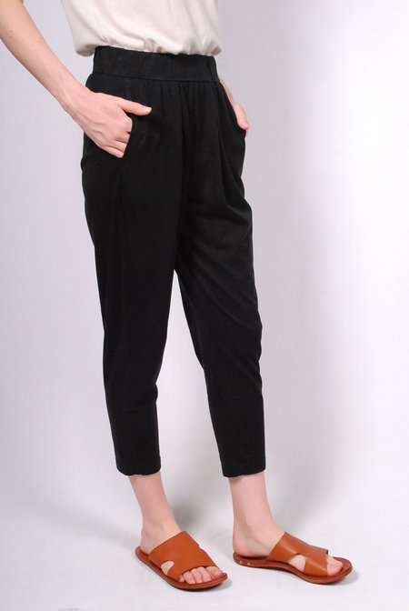 Raquel Allegra Drop Rise Easy Pant - Black