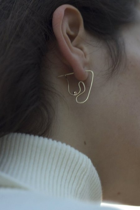 Knobbly Studio Deconstructed Nude Earring Small