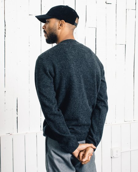 Norse Projects Sigfred Lambswool Sweater - Charcoal