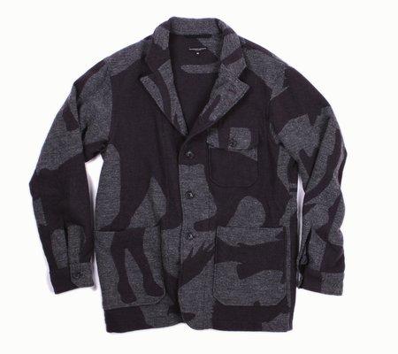Engineered Garments Benson Jacket -  Grey Animal Wool Jacquard