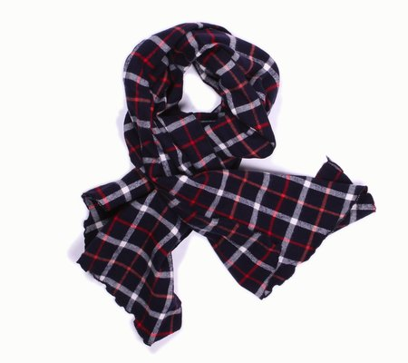 Engineered Garments Long Scarf - Navy/White Plaid Flannel