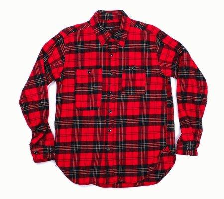 Engineered Garments Work Shirt - Red/Black Plaid Flannel