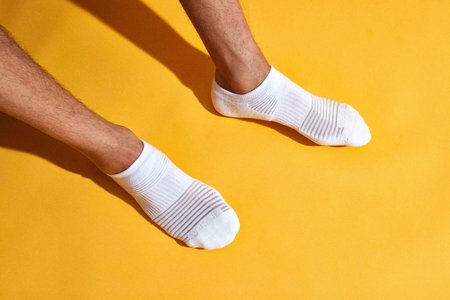 Mr. Gray Mesh Paneling Sock - White + Navy